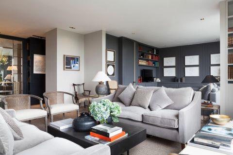潮流个性现代风格客厅装修效果图