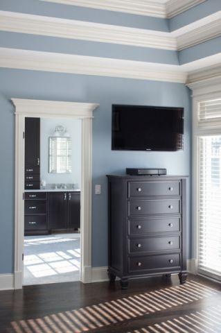 卧室蓝色细节现代风格装饰效果图