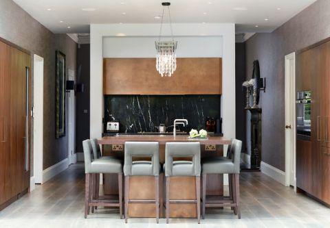 厨房黄色隔断现代风格装饰设计图片