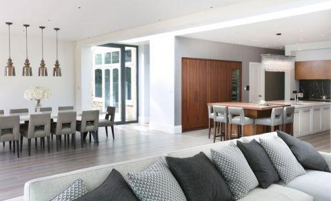 客厅白色隔断现代风格装潢设计图片