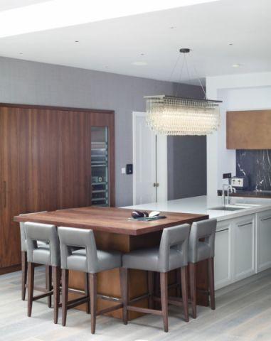 厨房黄色隔断现代风格效果图