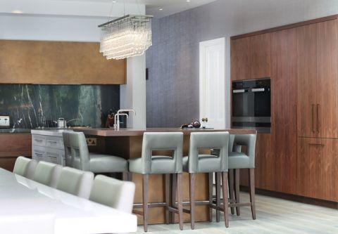 厨房黄色橱柜现代风格装潢效果图