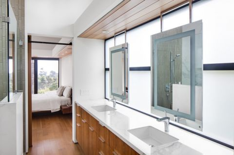 温馨舒适现代风格浴室装修效果图
