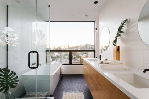 潮流个性现代风格浴室装修效果图_土拨鼠2017装修图片大全