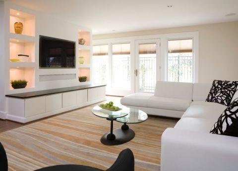 温暖现代风格客厅装修效果图