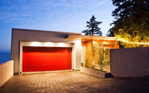 车库外墙现代风格装饰图片