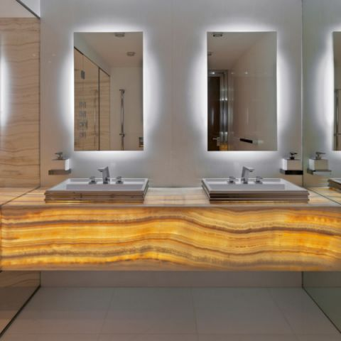 井井有條現代風格浴室裝修效果圖