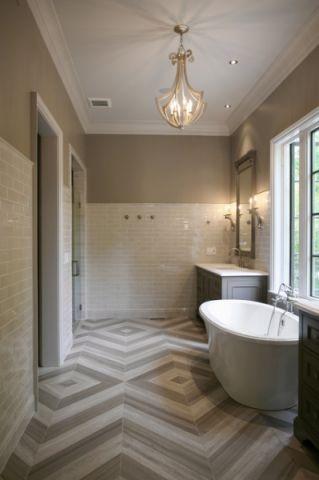 完美舒適現代風格浴室裝修效果圖