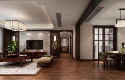 大溪地150平方新中式风格三居室装修效果图