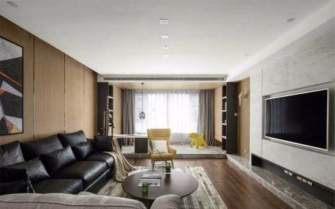 国贸花园120M²简约三居室装修效果图