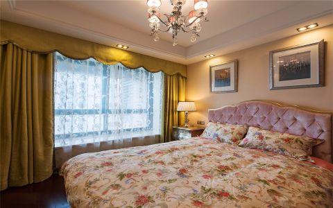 卧室窗帘新古典风格装修图片