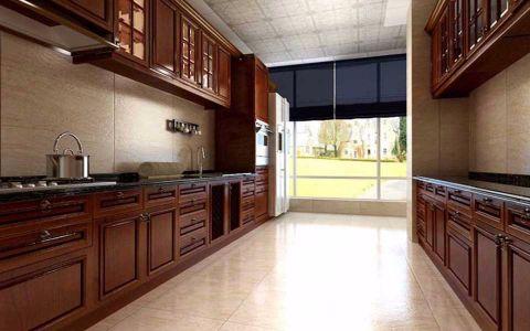 厨房橱柜简欧风格装潢设计图片