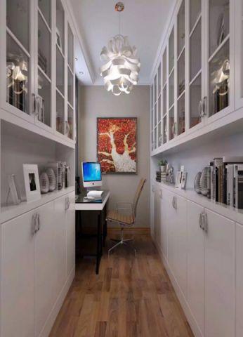 书房背景墙简约风格装饰图片