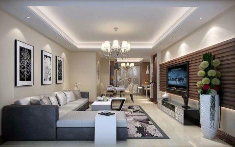 星汇名邸96平米现代简约二居室装修效果图
