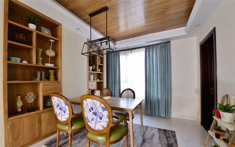 宁国新村100平美式风格三居室装修效果图
