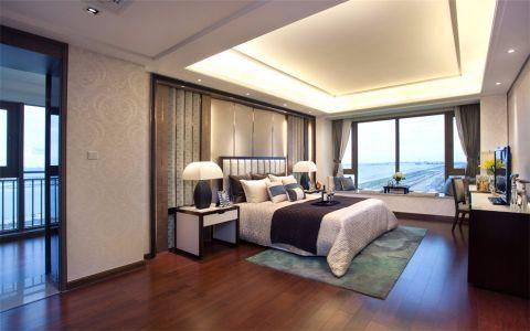 卧室隐形门中式风格装修效果图