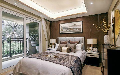 卧室飘窗新中式风格效果图