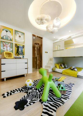 儿童房吊顶新中式风格装饰效果图