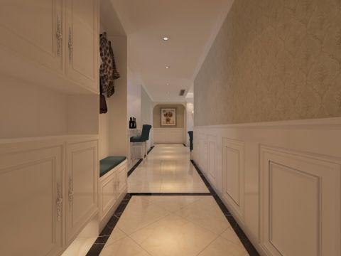 餐厅走廊简欧风格装潢图片