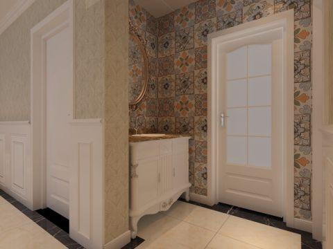 卫生间隔断简欧风格装潢设计图片