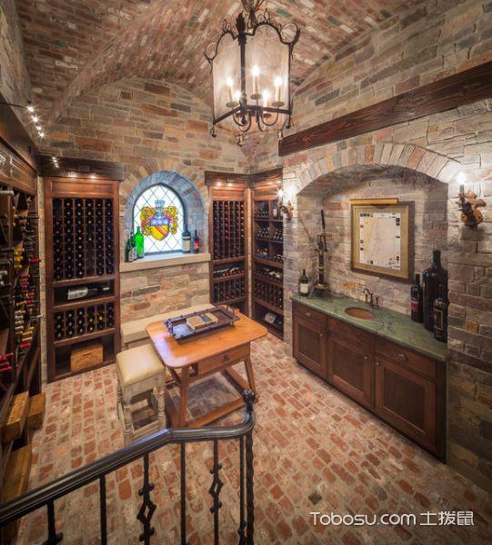 2020美式酒窖裝修設計圖片 2020美式地磚裝飾設計