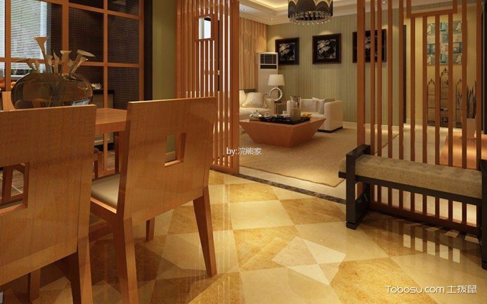 餐厅 隔断_零壹科技园92平米中式风格装修效果图