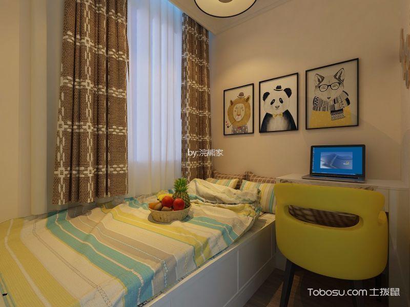 现代简约风格93平米两室两厅新房装修效果图