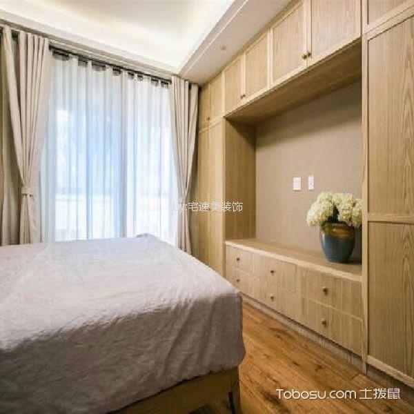 星海110日式原木色三居室风格装修图