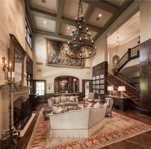 2018美式300平米以上装修效果图片 2018美式别墅装饰设计