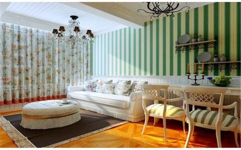 板桥新村38平米田园一室两厅一卫装修效果图