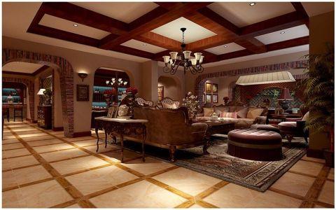 汤泉一品159平米东南亚风格四居室装修效果图