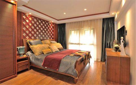 卧室飘窗东南亚风格装潢图片