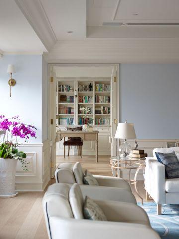 书房照片墙现代简约风格装饰设计图片