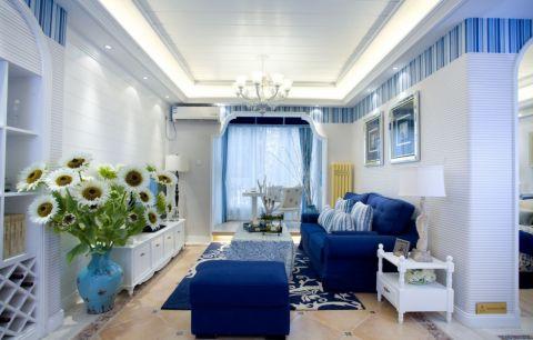 西三旗100平方地中海风格三居室装修效果图