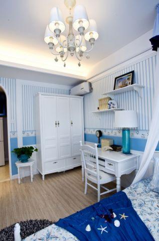 卧室背景墙地中海风格装饰设计图片