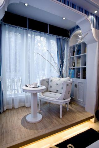 书房窗帘地中海风格装修效果图
