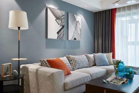 新密正升阳光城106平北欧风格三室装修效果图