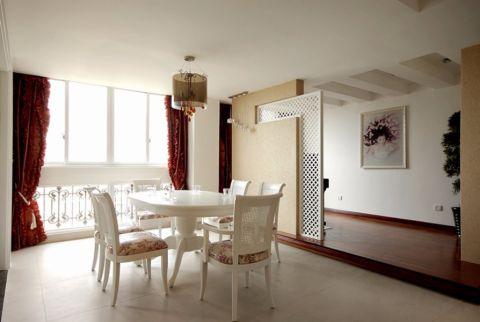 餐厅窗帘现代简约风格装修图片