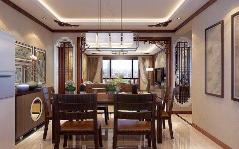 餐厅细节中式风格装饰效果图