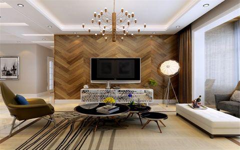 美林湾140平米现代简约风格三居室装修效果图