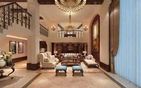 美式风格450平米别墅室内装修效果图