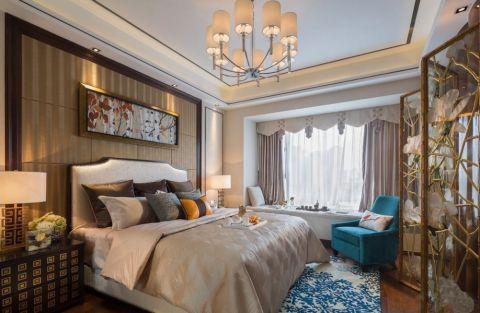 卧室飘窗中式风格装修设计图片