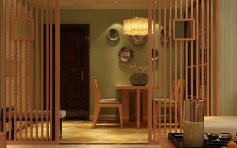 中式风格92平米三室两厅新房装修效果图