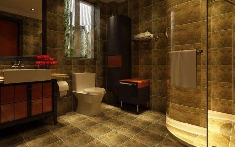 卫生间地砖中式风格装潢效果图