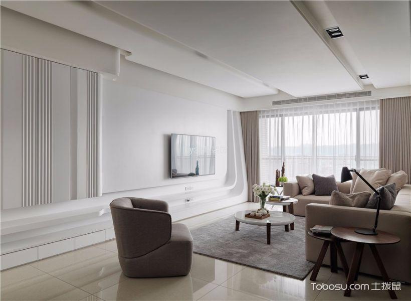 明园九龙湾140平现代风格三房装修效果图