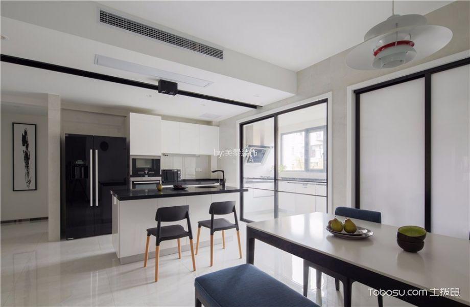 厨房 隔断_凯美怡和花园155平现代风格四房装修效果图