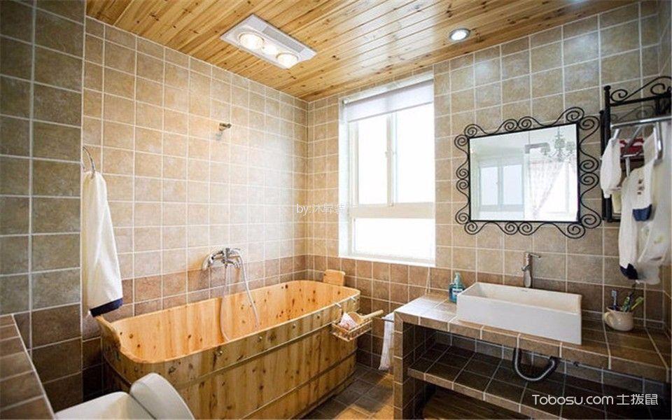 卫生间 吊顶_田园风格135平米四室两厅新房装修效果图