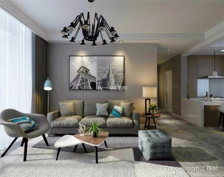 迎宾路三号112平北欧风格三居室装修效果图