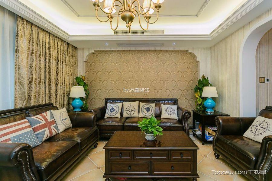 德信中外150方美式风格公寓装修效果图