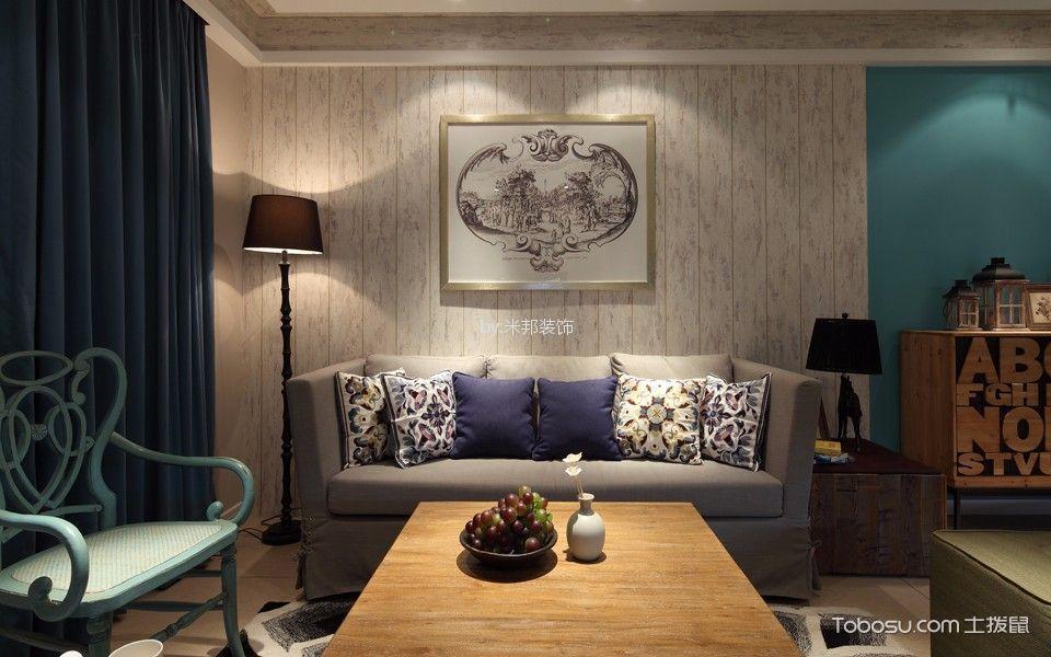 万达中央华城120平混搭风格三居室装修效果图
